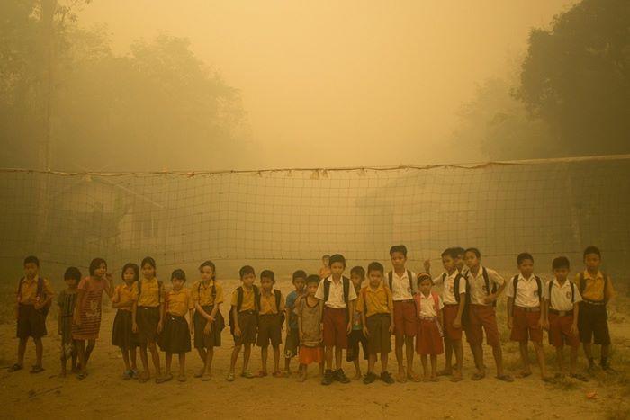 pożary w Indonezji