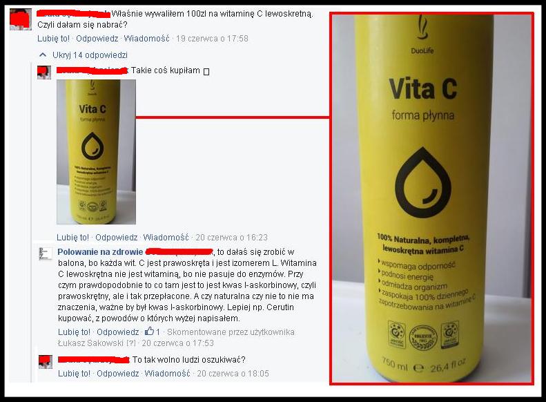 naturalna witamina C Duolife opinie