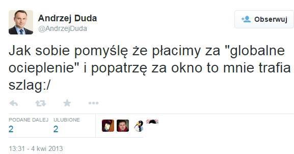 Andrzej Duda globalne ocieplenie
