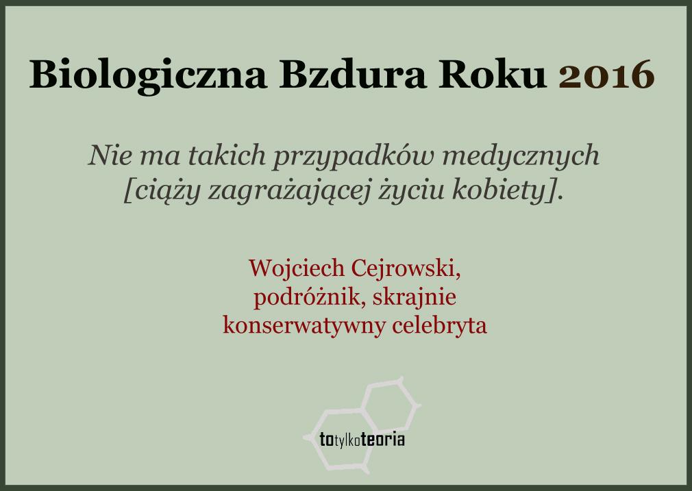 Wojciech Cejrowski bzdura