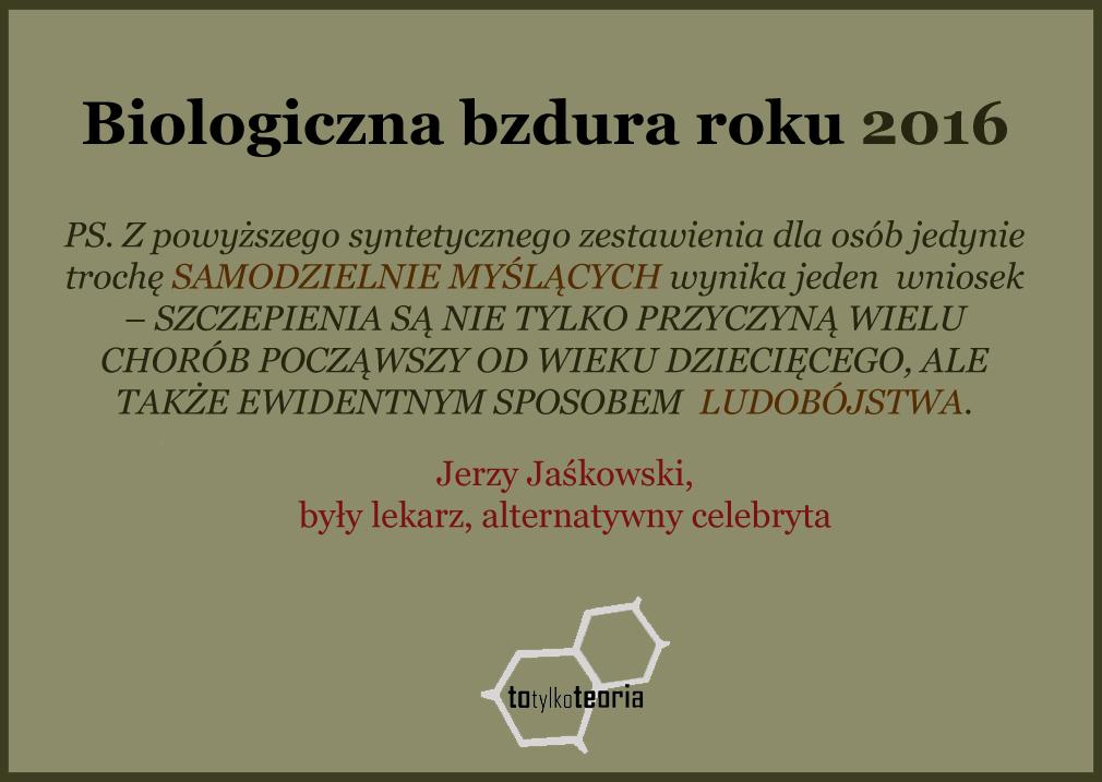 Jerzy Jaśkowski szczepionki