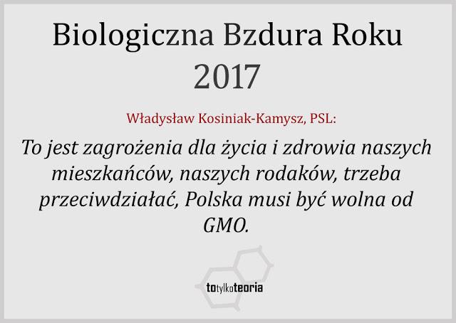 GMO biologiczna bzdura roku 2017