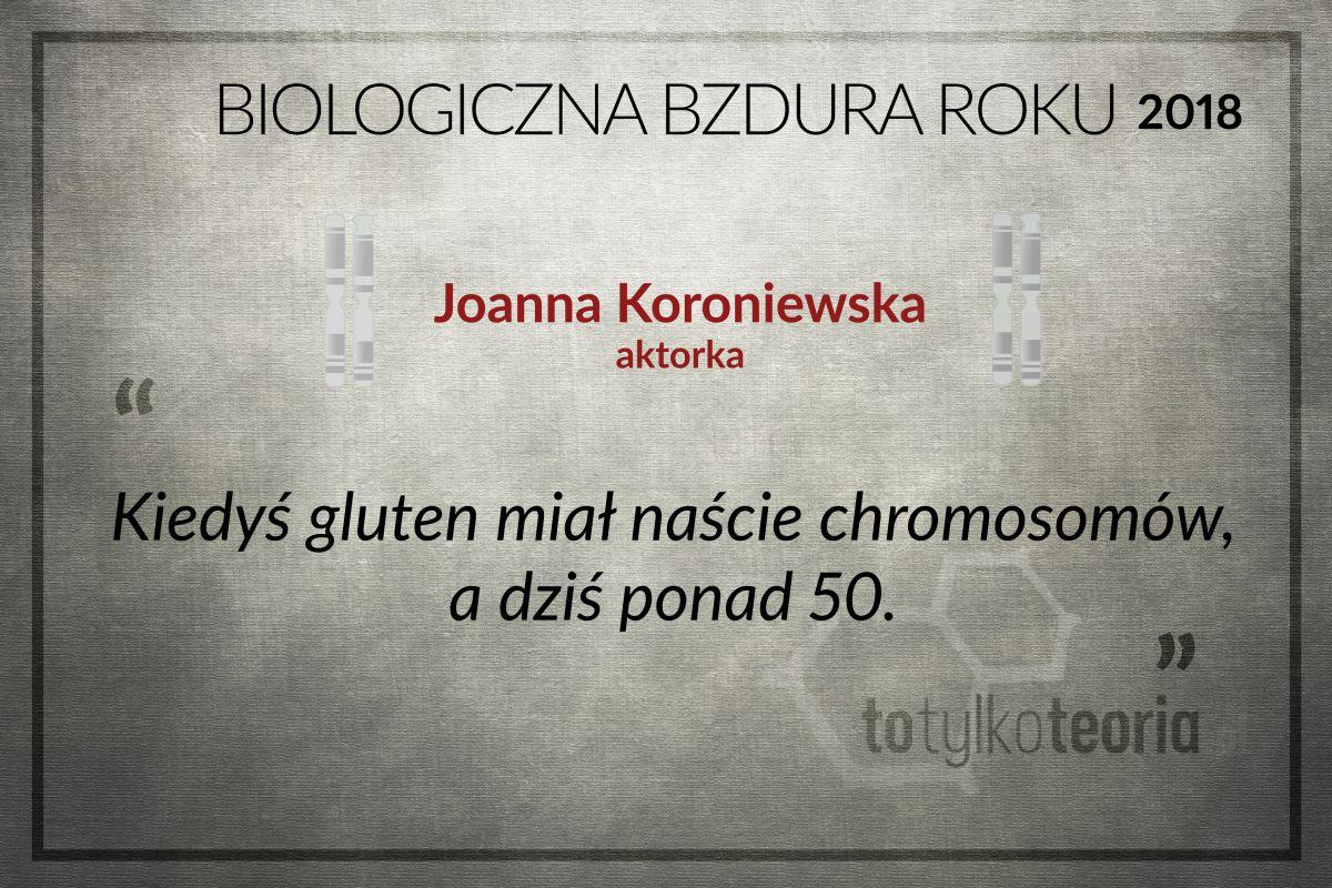 Joanna Koroniewska gluten