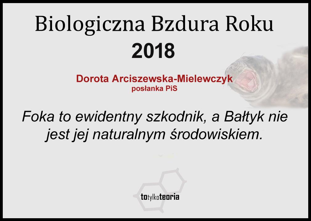 Biologiczna Bzdura Roku 2018 foki
