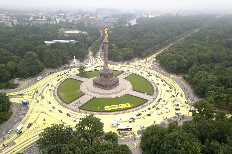 Greenpeace farba Berlin
