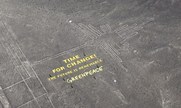 Greenpeace rysunki Nazca