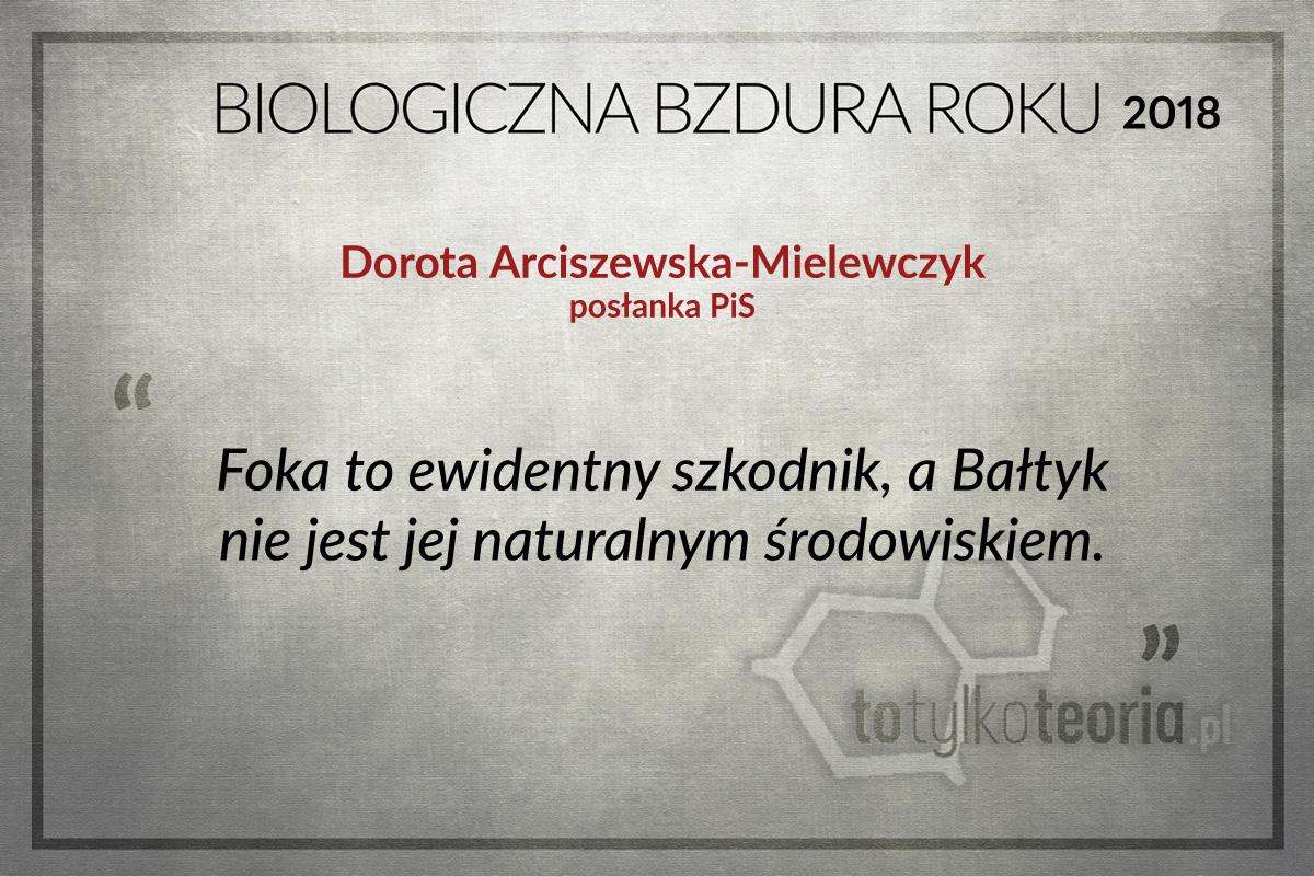 Dorota Arciszewska Mielewczyk Biologiczna Bzdura Roku 2018