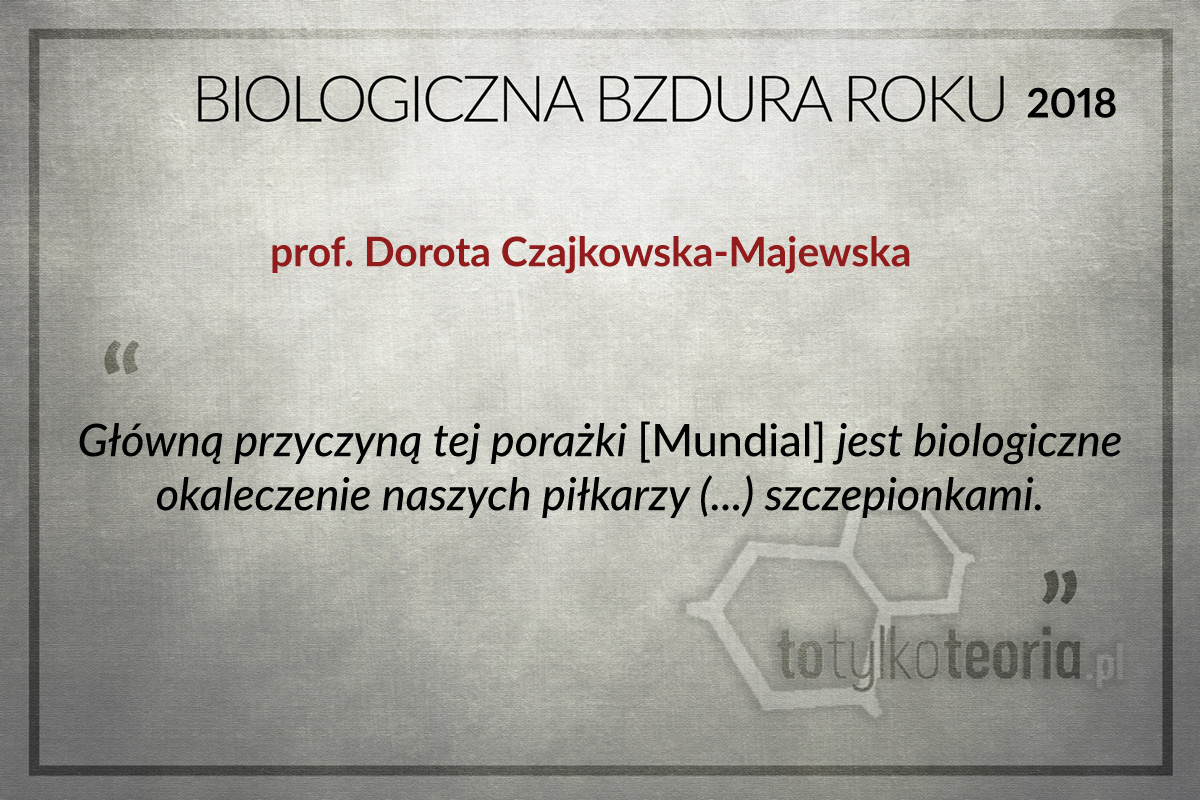Dorota Czajkowska Majewska Biologiczna Bzdura Roku 2018