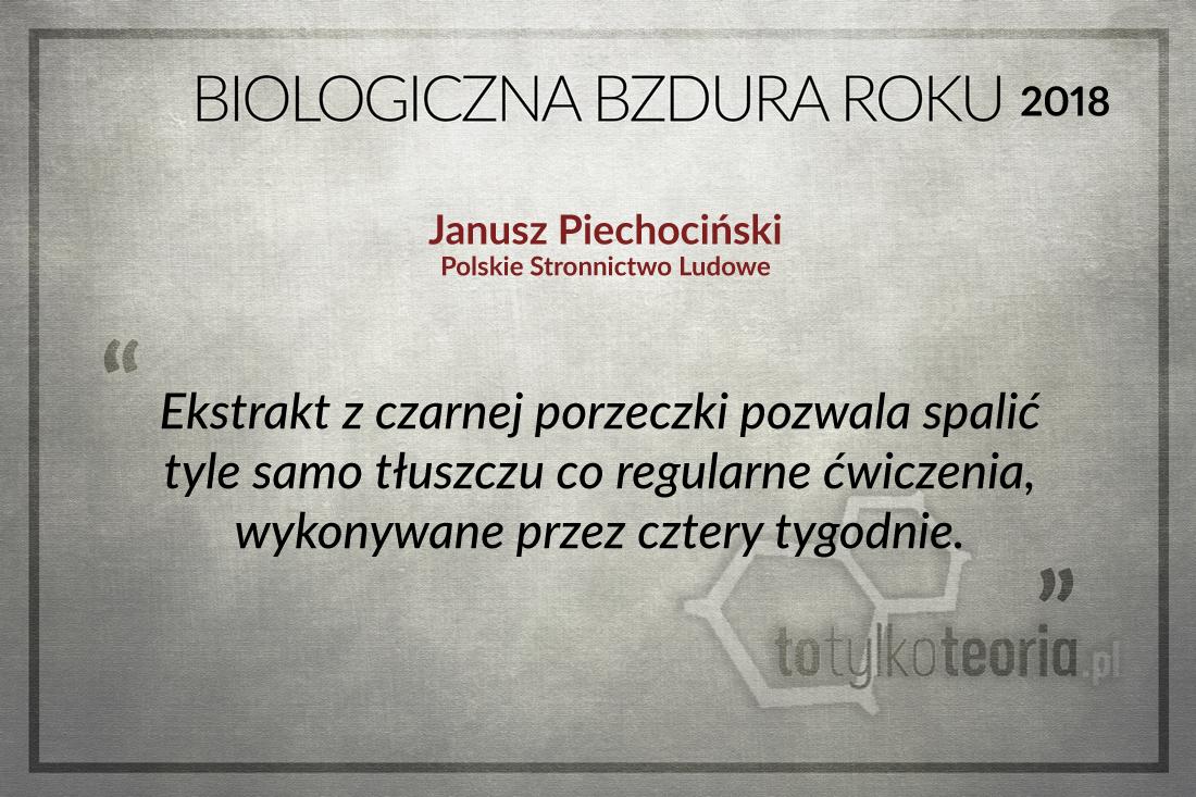 Janusz Piechociński Biologiczna Bzdura Roku 2018