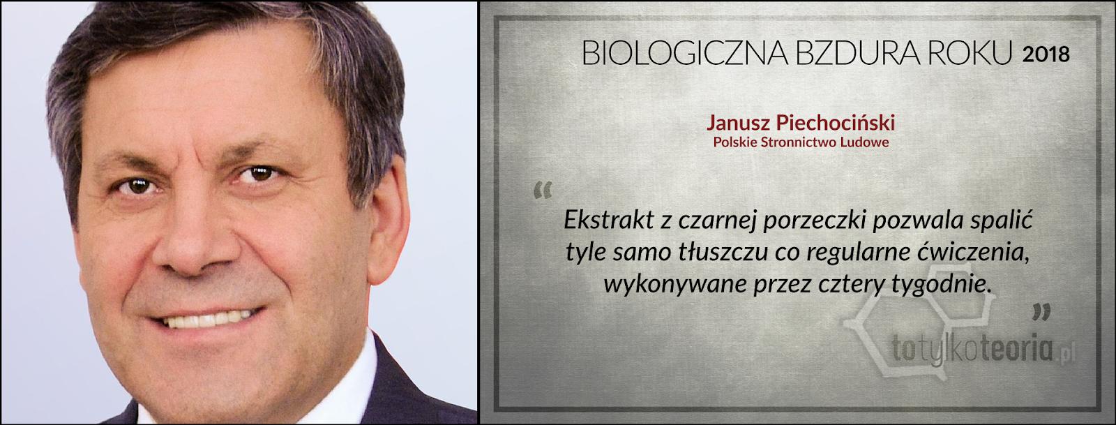 Janusz Piechociński ekstrakt z czarnej porzeczki Biologiczna Bzdura Roku 2018