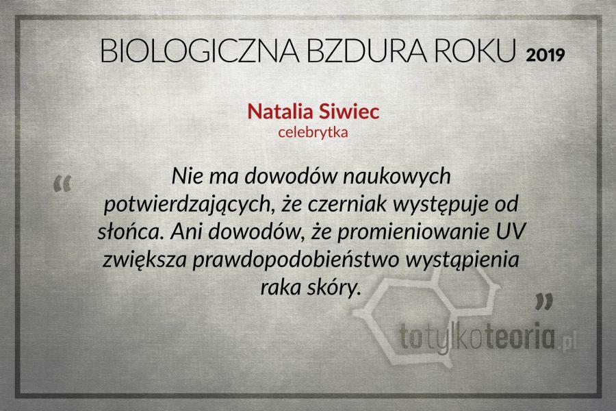 Natalia Siwiec Biologiczna Bzdura Roku
