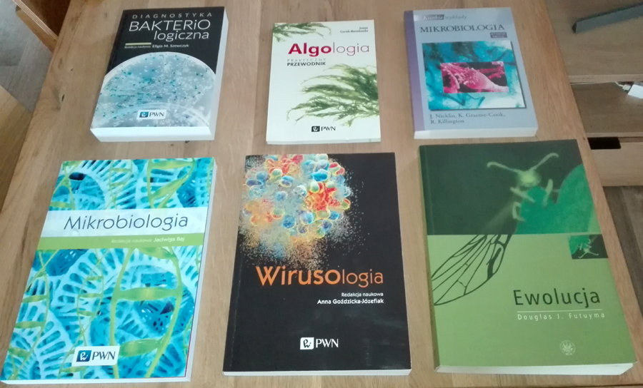 wirusologia bakteriologia algologia mikrobiologia
