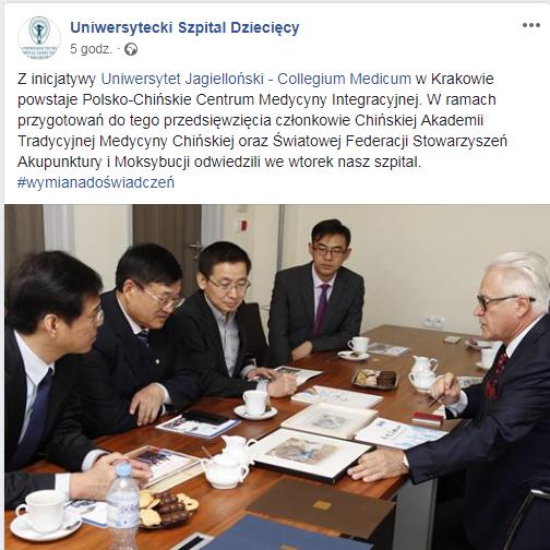 medycyna chińska uniwersytet jagielloński