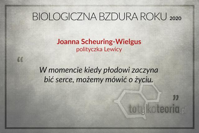 Joanna Scheuring-Wielgus Biologiczna Bzdura Roku