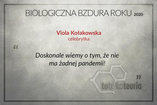 Viola Kołakowska Biologiczna Bzdura Roku